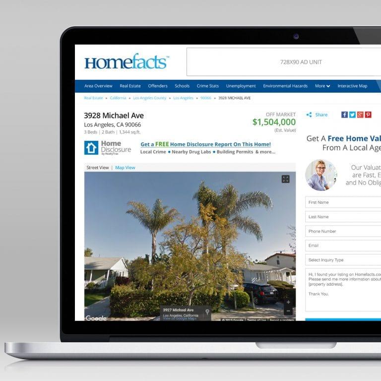 Homefacts Website Redesign